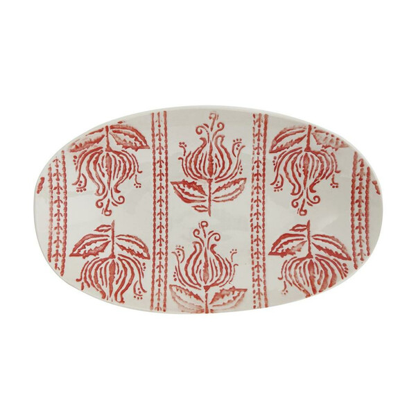 Bloomingville Viola Serving Plate, Red, Stoneware